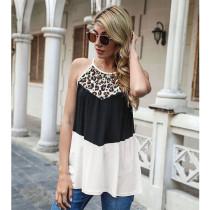 Summer Leopard Stitch Sleeveless Vest