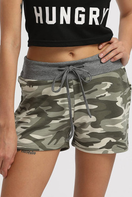 Camouflage Fashion Simple Casual Shorts