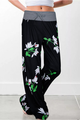 Fashion Casual Printed  Wide Leg Pants