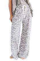 Leopard Print Loose Fit Pants
