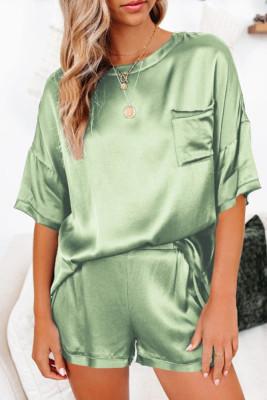 Green Short Length Two Piece Lounge Wear