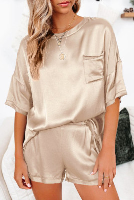 Gold Short Length Two Piece Lounge Wear