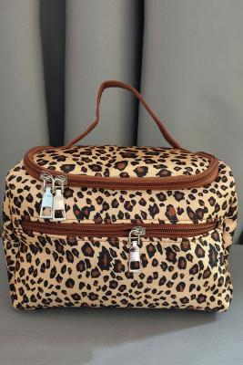 Leopard Print Casual Handbag