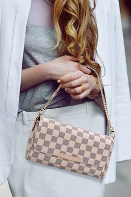 White Plaid Crossbody Bags