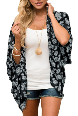 Casual Chiffon Print Sunscreen Blouse Cover up