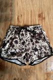 Cow Print  Casual Shorts with Pockets