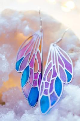 Gradient Color Butterfly Earrings