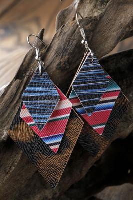 Stripe Leopard Diamond Earrings