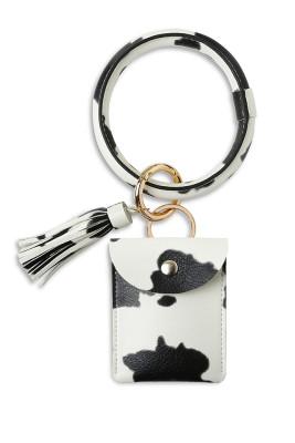 PU Tassel Leather Wrist Card Holder