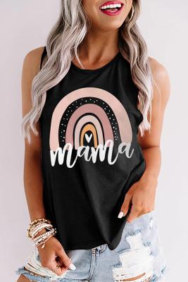 Black Mama Printed Tank Top