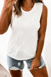 White Solid Color Tank Top