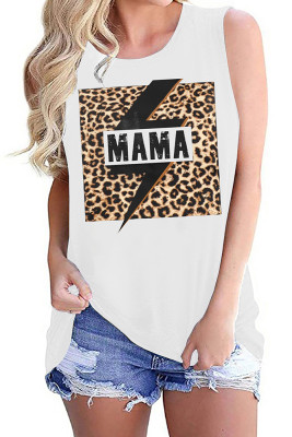 MAMA Leopard Printed Vest Tank Top