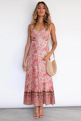 Pink Bohemia Strap Floral Dress