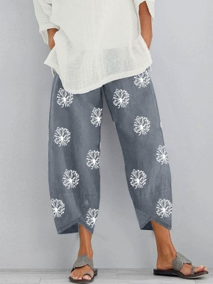 Casual Loose Printed Pocket Pants