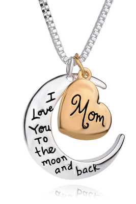 Mother's Day Gift  Heart&Moon Necklace