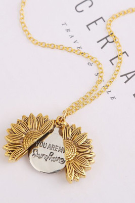 Sunflower Alloy Mother's day Gift Necklace