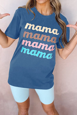 Blue mama Printed Graphic Tee