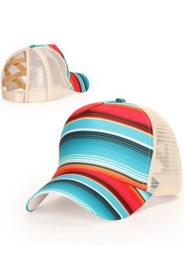 Colorful Stripe Outdoor  Baseball Cap
