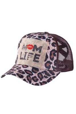 MOM LIFE Leopard Baseball Cap