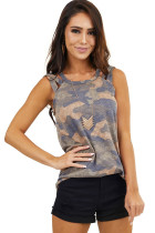 Camouflage Strappy Tank Top