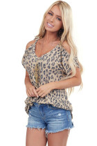 Leopard Printed Strappy T Shirt