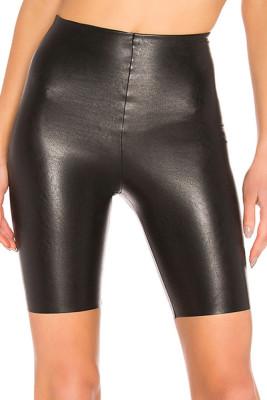 Skinny PU Leather Shorts