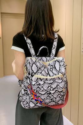 Snake Print Large Capacity Backpack