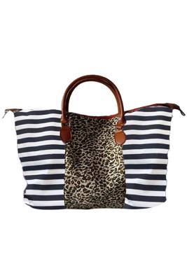 Leopard Floral Splicing Weekender Bag