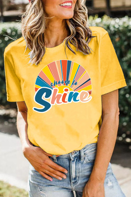 Choose to Shine Printed Graphic Tee