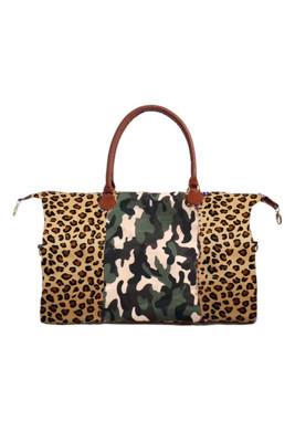 Leopard Over Camouflage Weekender Bag