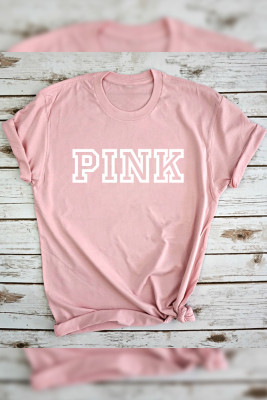 Pink Print Graphic Top