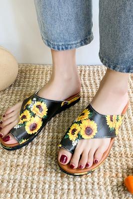 Sunflower Mid Flat Heel Sandals