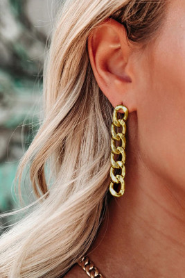Gold Plated Chain Drop Earrings