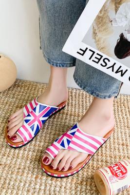 Union Jack Mid Flat Heel Sandals