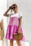 Color Block Boho Dress