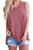 Pink Solid Color Tank Top