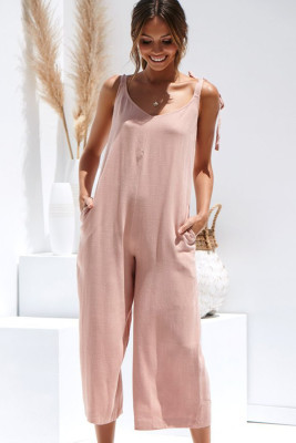 Pink Sling Sexy Jumpsuit