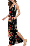 Sling V-Neck Floral Dress