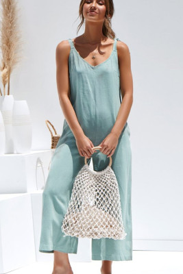 Blue Sling Sexy Jumpsuit
