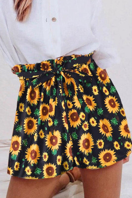 Sunflower Drawstring Shorts
