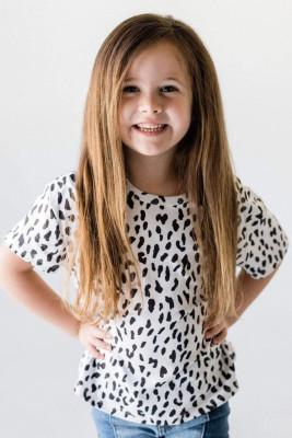 White Leopard Little Girls' Tee