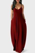 Deep V-neck Slip Dress
