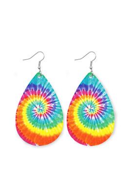 Tie-Dye Leather Earrings