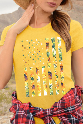 Customized Sunflower Short Sleeve Top