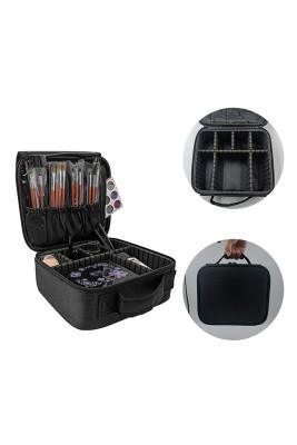 Black Multifunctional Nail Cosmetic Bag