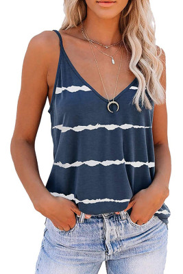 Stripe Slip V-neck Tank Top