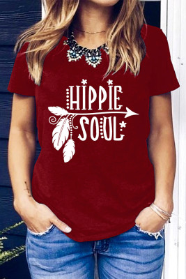 Hipple Soul Pattern Short Sleeve Top