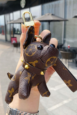 Cute Puppy Leather Doll Key Chain