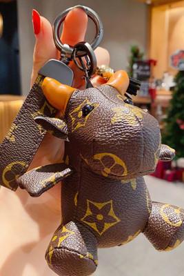 Ox Year Mascot Leather Doll Key Chain