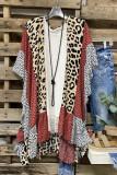 Leopard Print Patchwork Kimono Cover Up